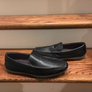 Cole Haan men's loafers gently worn black leather